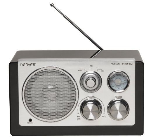 Denver 12213510 Smart Design AM/FM Radio schwarz