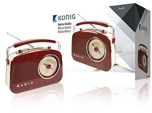 KOENIG Retrodesign UKW/MW-Radio braun