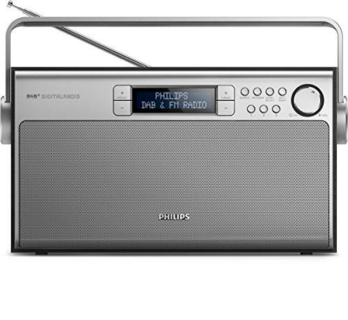 Philips AE5220B tragbares Radio (digitaler UKW-Tuner, DAB+, Akku-Netzbetrieb, 6W RMS) schwarz