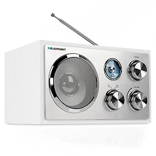 Blaupunkt RXN 18 UKW/ FM Küchenradio mit Analog-Tuner | Büroradio mit klassischem und zeitlosen Design | Kofferradio mit Holzgehäuse und Teleskopantenne | beleuchtete Senderskala