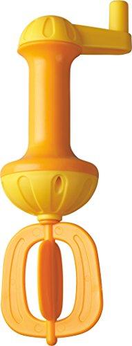 HABA 301294 – Badeschaum-Schläger, gelb | Badespielzeug für mehr Schaum in der Badewanne | Einfach bedienbarer Schaumschläger mit Kurbel zum Drehen | Badewannenspielzeug ab 3 Jahren