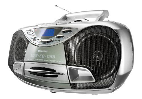 Karcher CD Radio RR 510N – Boombox (mit CD Player, UKW Radio, Kassettenspieler, MP3 Player über CD oder USB)