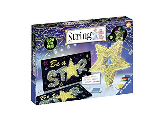 Ravensburger 18052 String It Maxi: 3D-Stars – Glow in The Dark