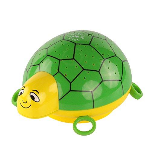 ANSMANN LED Sternenhimmel Projektor Schildkröte – Einschlafhilfe mit Musik & Farbspiel – Nachtlicht mit Sensor Touch ideal als Kinderlampe Nachttischlampe Nachtlampe für Baby & Kind im Kinderzimmer