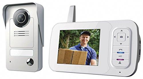 Smartwares Drahtlose Videotürsprechanlage mit Nachtsichtfunktion und Bildaufnahme, Funkreichweite bis zu 120 m, VD38W