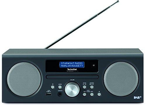 TechniSat TECHNIRADIO DIGIT CD Digital-Radio mit CD-Player, MP3-Player, DAB+, PLL-UKW Tuner, USB, 10 Watt RMS, anthrazit