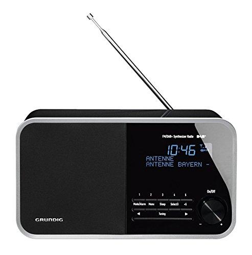 Grundig DTR 3000 Table Digital Radio, 30 W PMPO, AUX-IN, UKW-RDS und DAB+ mit jeweils 10 Stationsspeicher schwarz