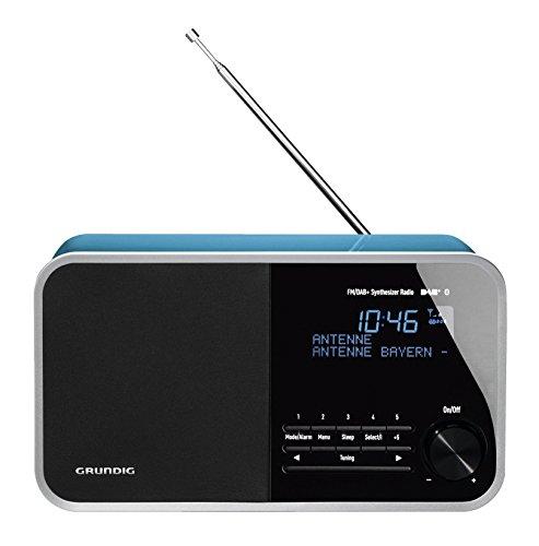 Grundig DTR 4000 Table Digital Radio, Bluetooth, 30 W PMPO, AUX-IN, UKW-RDS und DAB+ mit jeweils 10 Stationsspeicher perlen-blau