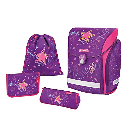 Herlitz Schulranzen Midi Plus Set, 38 cm, Melody Star